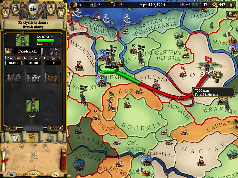 Europa Universalis I screenshot 1