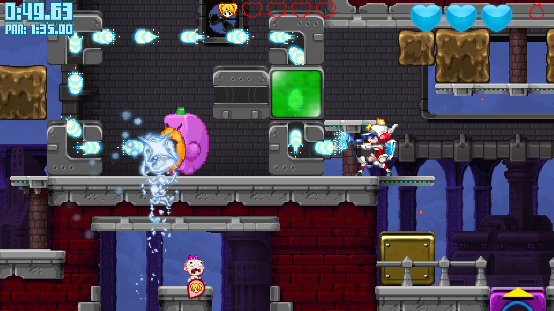 Mighty Switch Force! Collection screenshot 2